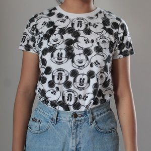 Disney Black and White Mickey Mouse T-Shirt
